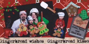 Our gingerbread mini-me's.