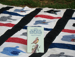 bird book on quilt