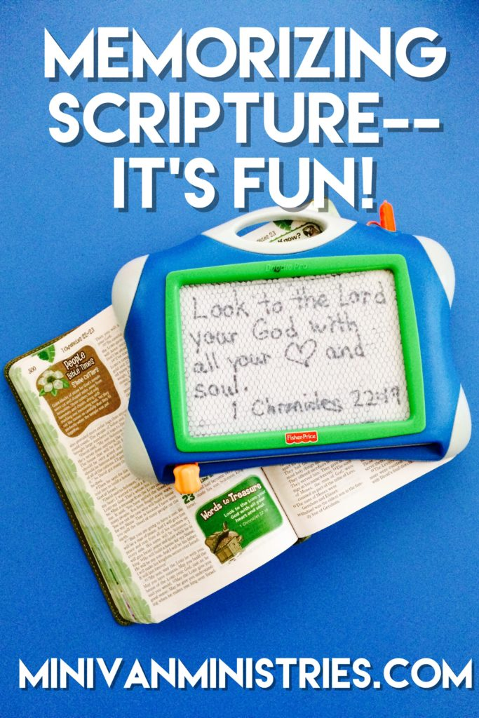 Memorizing Scripture–It's Fun!