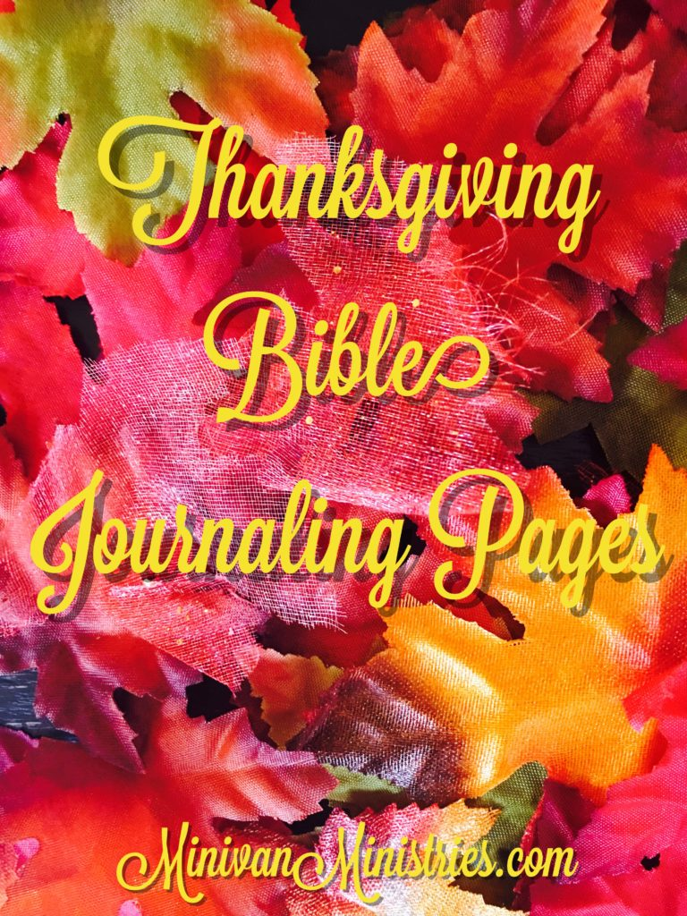 Thanksgiving Bible Journaling Pages