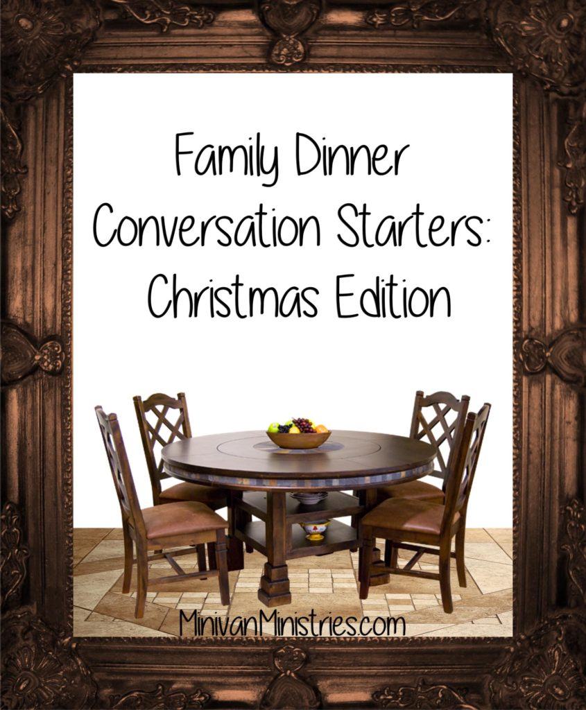 Family Dinner Conversation Starters: Christmas Edition