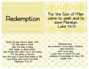 personalized redemption verses