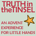 truth in tinsel button