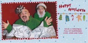 Our 2nd crazy card--my hubby popping out of a box and scaring me.