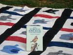 bird book on quilt