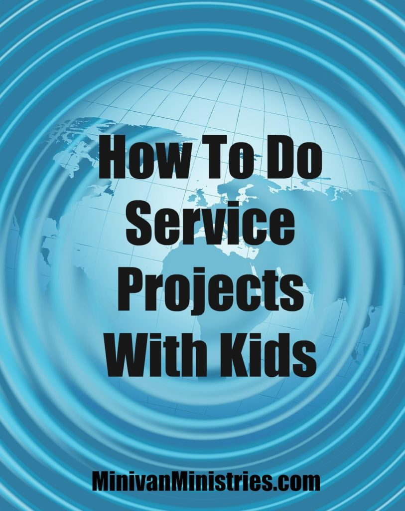 how to do service projects with kids