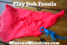 Play Doh Fossils